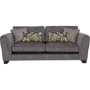 Furniture Village Ariana 4 Seater Classic Back Fabric Sofa - Grey, Grey