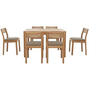 Ercol - Ella Small Extending Dining Table And 6 Dining Chairs - Brown, Brown
