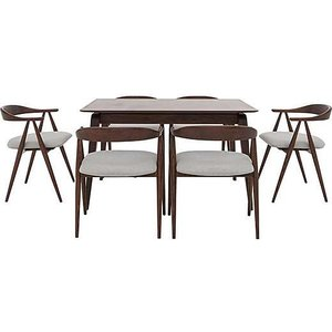 Ercol - Lugo Small Fixed Dining Table And 6 Dining Armchairs Lugost6c  001