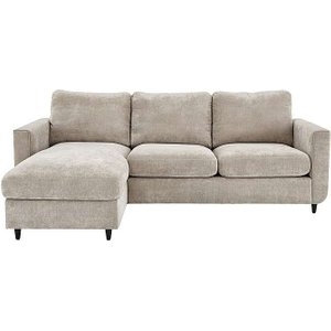 Furniture Village Esprit Fabric Chaise Sofa Bed With Storage - Silver, Silver
