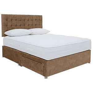 Highgrove - Sleep Story Ergo 1000 Divan Set - Combined - Small Double - Brown, Brown