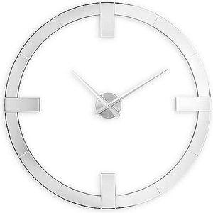 Furniture Village Large Mirrored Wall Clock - White Lmw Cloc  888