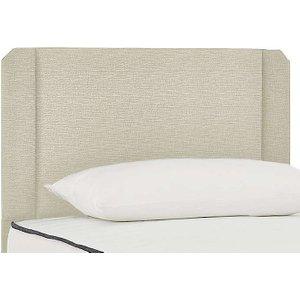 Mi Bed - Oakmere Strutted Headboard - Small Double - Beige, Beige