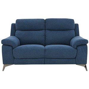 Furniture Village Missouri 2 Seater Fabric Sofa - Blue, Blue