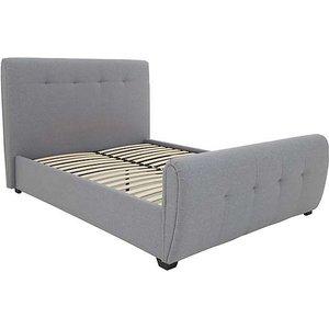 Furniture Village Tampa Brushed Velvet Bed Frame - Super King - Silver, Silver