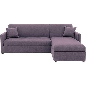 Furniture Village Versatile Small 2 Seater Fabric Chaise Sofa Bed With Storage With Slim Arms - Purple, Purple