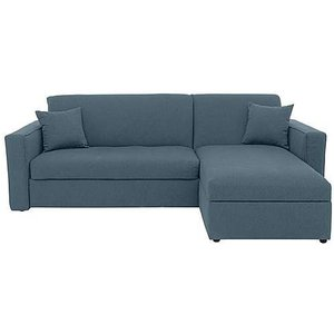Furniture Village Versatile Small 2 Seater Fabric Chaise Sofa Bed With Storage With Box Arms