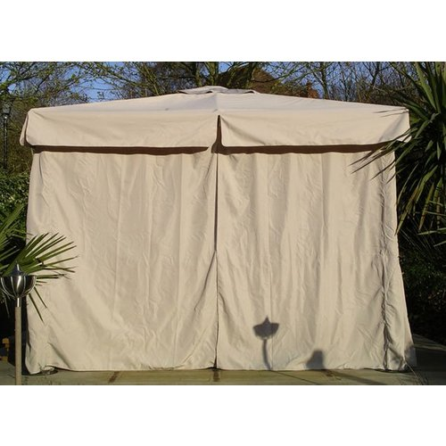 Replacement 4m X 3m Deluxe Gazebo - Side Curtains The Garden Furniture Centre Ltd Gazcov04