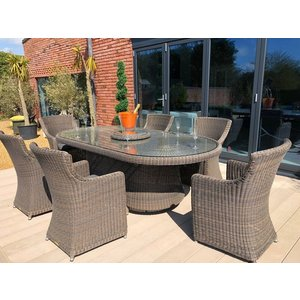 Seville 6 Chair Rattan Set The Garden Furniture Centre Ltd Sevk22