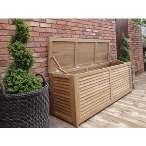 Teak Cushion Box 1.8m The Garden Furniture Centre Ltd Kt722