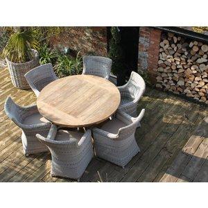 York 6 Chair Round Dining Set The Garden Furniture Centre Ltd Conyork