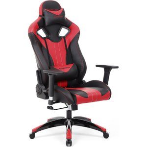 Songmics Gaming Chair With Tilt Function And Adjustable Armrests (black / Red)  6955880324132