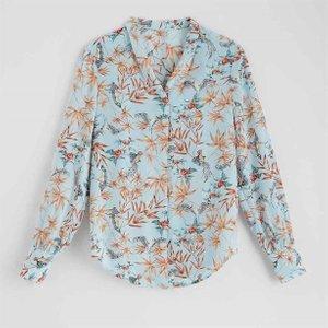 Trend Hummingbird Floral Blouse - 12, 12 13732 212398414137, 12