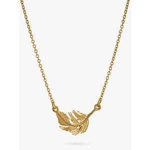 Alex Monroe Little Feather Necklace, Gold