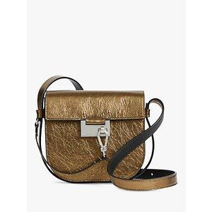 Allsaints Ida Leather Cross Body Bag, Gold Womens Accessories