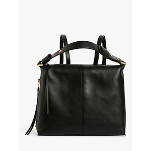 Allsaints Lawrence Leather Backpack, Black Womens Accessories
