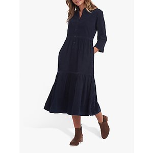 Barbour Wilderness Collection Cord Midi Dress, Navy