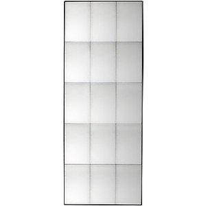 Bastien Antiqued Glass Rectangular Mirror, 160 X 62cm, Black  House Accessories