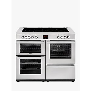 Belling Cookcentre 110e Electric Range Cooker With Ceramic Hob, Stainless Steel