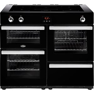 Belling Cookcentre 110ei Electric Range Cooker With Induction Hob, Black