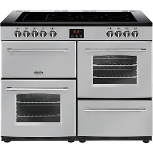 Belling Farmhouse 110e Electric Range Cooker With Ceramic Hob, Silver