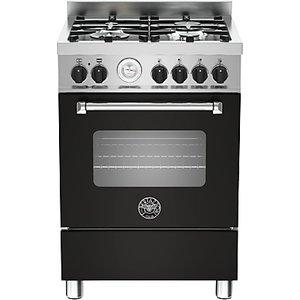 Bertazzoni Mas604mfes Dual Fuel Single Range Cooker, Matt Black