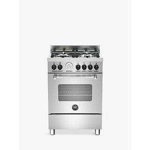 Bertazzoni Mas604mfes Dual Fuel Single Range Cooker, Stainless Steel