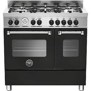 Bertazzoni Mas905mfed Twin Dual Fuel Range Cooker, Matt Black