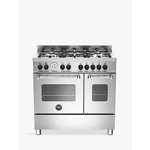 Bertazzoni Mas905mfed Twin Dual Fuel Range Cooker, Stainless Steel
