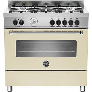 Bertazzoni Mas905mfes Dual Fuel Single Range Cooker, Cream