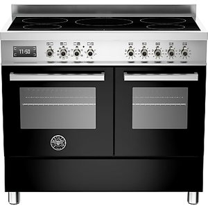 Bertazzoni Professional Series 100cm Electric Induction Range Cooker, Black
