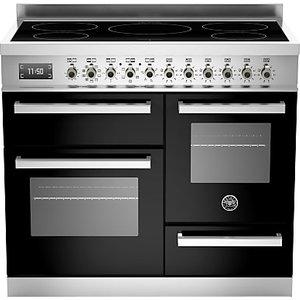 Bertazzoni Professional Series 100cm Electric Induction Xg Range Cooker, Black