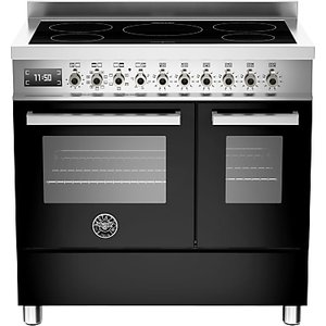 Bertazzoni Professional Series 90cm Electric Induction Twin Range Cooker, Black