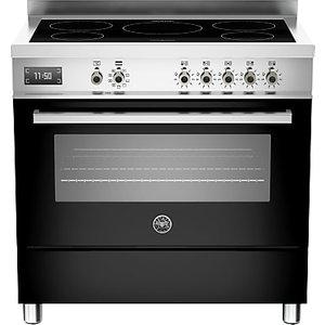 Bertazzoni Professional Series 90cm Electric Induction Single Range Cooker, Black