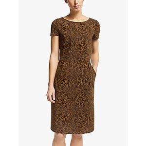 Boden Phoebe Cotton Jersey Dress, Black/animal Stamp