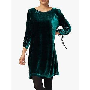 Brora Velvet Tunic Dress, Teal