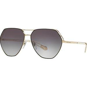 Bvlgari Bv6098 Women's Aviator Sunglasses, Gold/black Womens Accessories