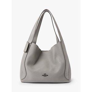 Coach Hadley Leather Hobo Bag Womens Accessories, Heather Grey