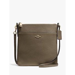 Coach Messenger Leather Cross Body Bag Womens Accessories, Moss Green