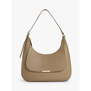 Coccinelle Cher Leather Shoulder Bag Womens Accessories, Taupe