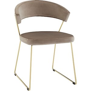 Connubia By Calligaris New York Velvet Dining Chair, Sand