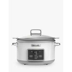 Crock-pot Csc026 Duraceramic™ Sauté 5l Slow Cooker, White