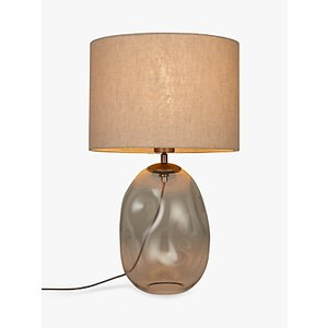 Croft Collection Burdock Glass Table Lamp, Grey