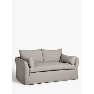 Croft Collection Cascade Medium 2 Seater Sofa, Loose Cover, Maria Steel