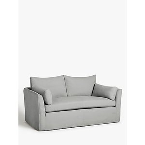 Croft Collection Cascade Medium 2 Seater Sofa, Loose Cover, Marylamb Storm