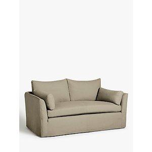 Croft Collection Cascade Medium 2 Seater Sofa, Loose Cover, Beaulieu Clay