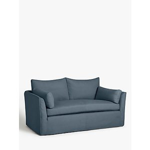 Croft Collection Cascade Medium 2 Seater Sofa, Loose Cover, Beaulieu Lake Blue