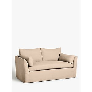 Croft Collection Cascade Medium 2 Seater Sofa, Loose Cover, Maria Putty