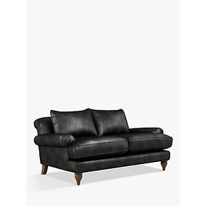 Croft Collection Findon Medium 2 Seater Leather Sofa, Dark Leg, Contempo Castanga