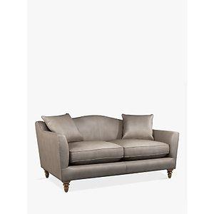Croft Collection Melrose Medium 2 Seater Leather Sofa, Dark Leg, Nature Putty